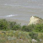зеленый склон и море